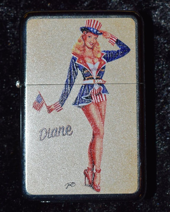 * Diane Pinup Amerika Outfit BENZINFEUERZEUG